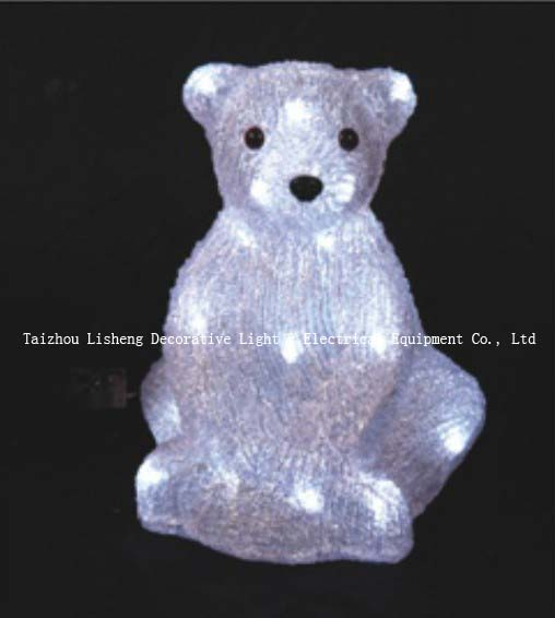 Acrylic sitting bear